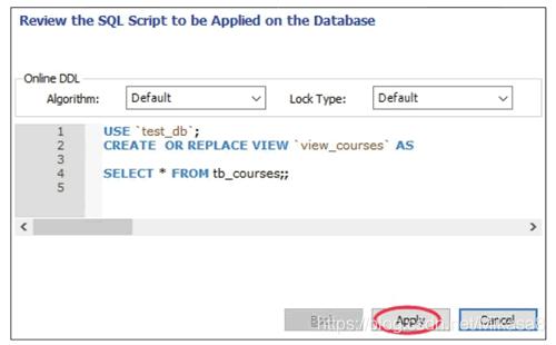 预览创建视图的SQL脚本