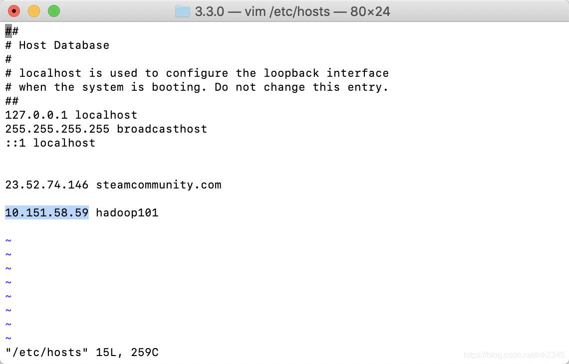 终端hosts文件修改