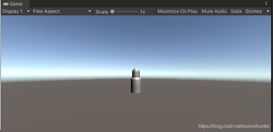建好的一个子弹模型