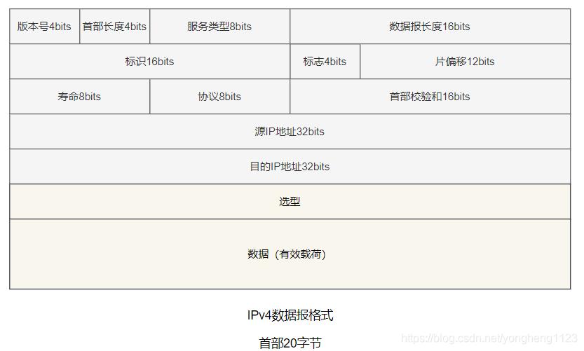 IPv4数据报格式