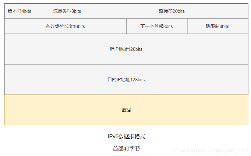 IPv6数据报格式