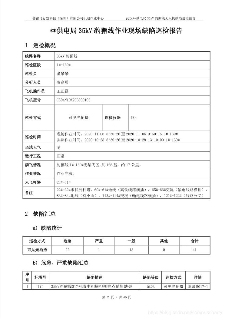 巡检报告标题页