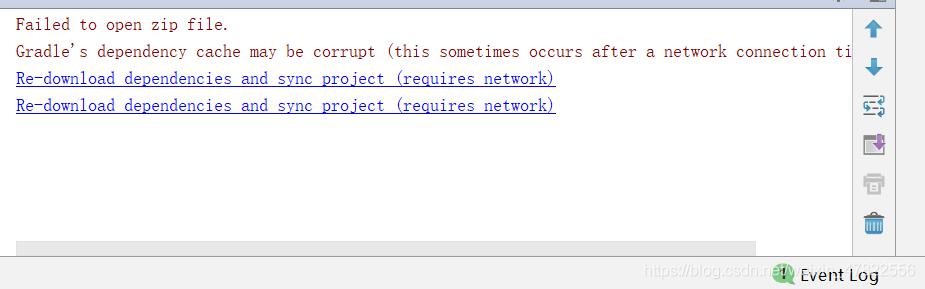 报错信息:Failed to open zip file.