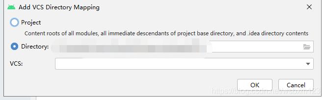 点击+后会出来这个界面,选择项目路径(会默认当前项目),下边的VCS选择Subversion