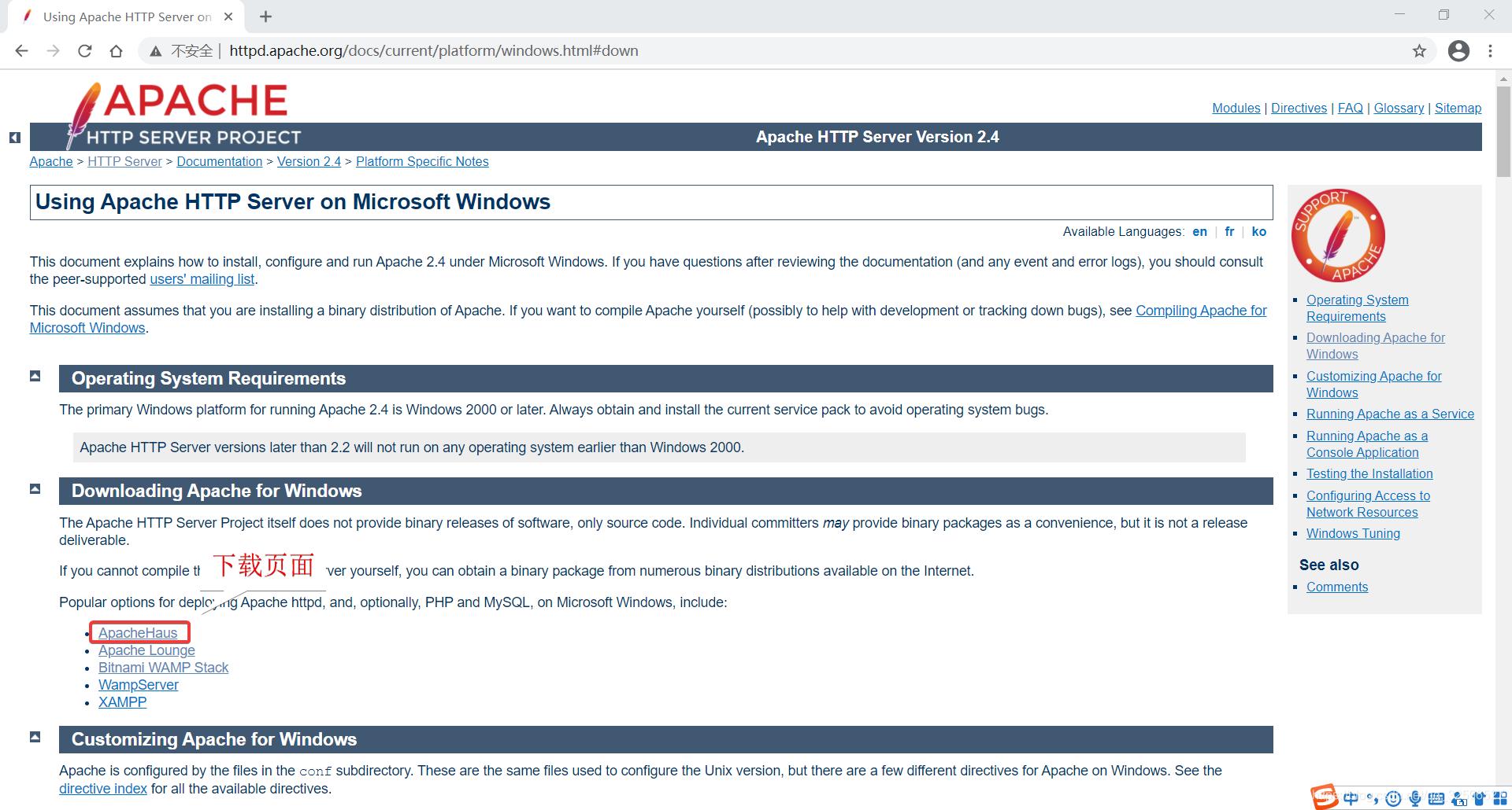Windows 下载页面
