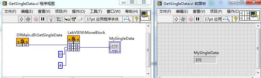 程序框图配置及运行结果