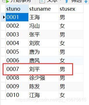 注意这里刘平的性别是男,我之后我将他的性别改成女