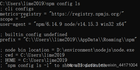 npm配置信息