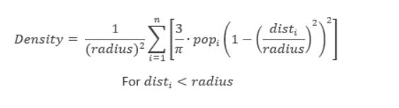 核密度公式