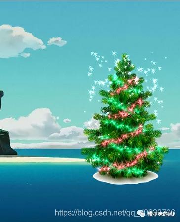 圣诞节桌面特效圣诞树程序(含运行效果和百度网盘直接运行程序)Hi洛一的博客-
