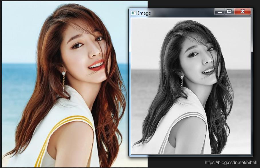 Python OpenCV 彩色图像与灰度图像的转换