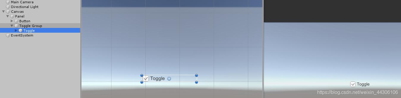 添加Toggle组件