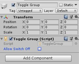 Toggle Group组件