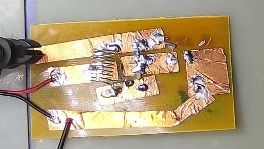 ▲ 简易贴铜箔实验电路板