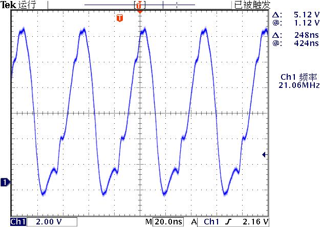 ▲ 电路中(1)点的电压波形