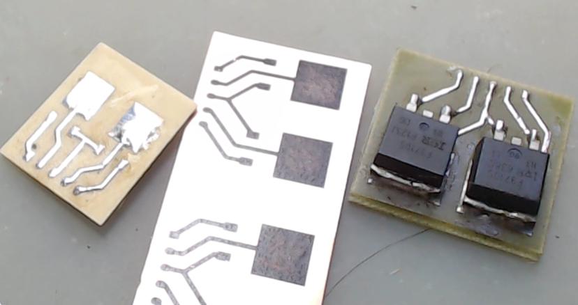 ▲ 修改后的实验电路板