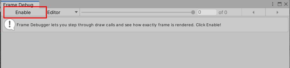 Frame Debugger窗口