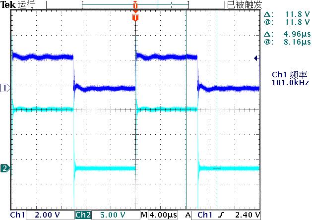 ▲ 输入电压幅值2.5V
