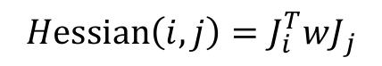 """Hessian i, j = J !"""" wJ #"""