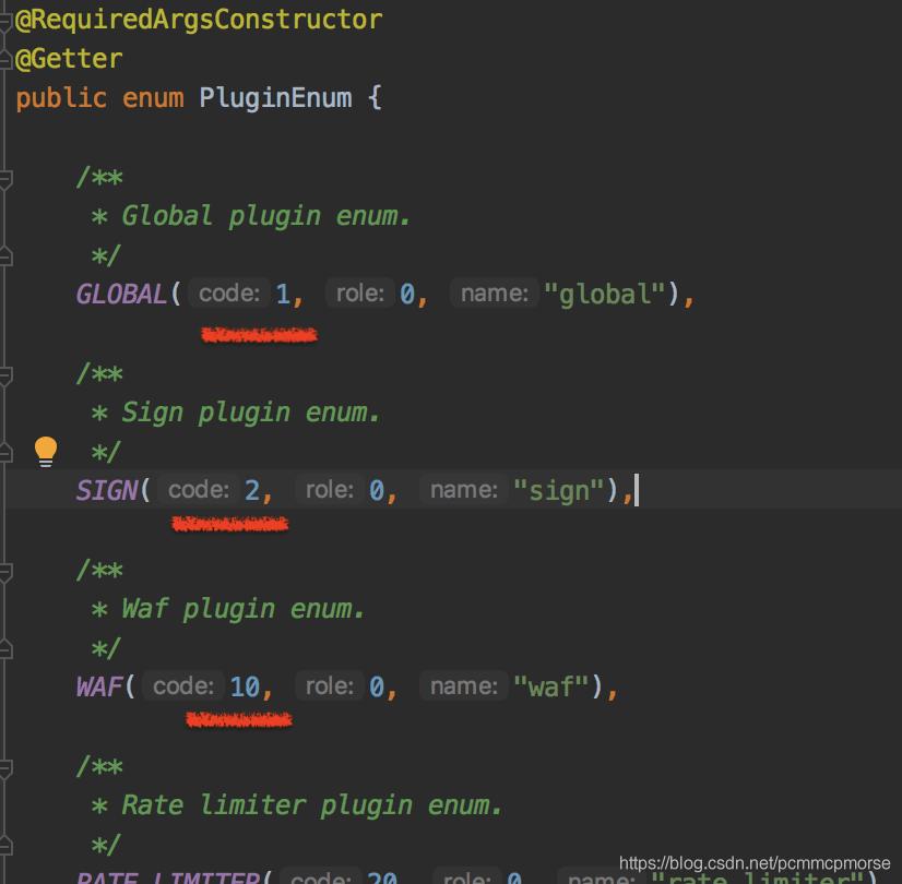 PluginEnum的定义