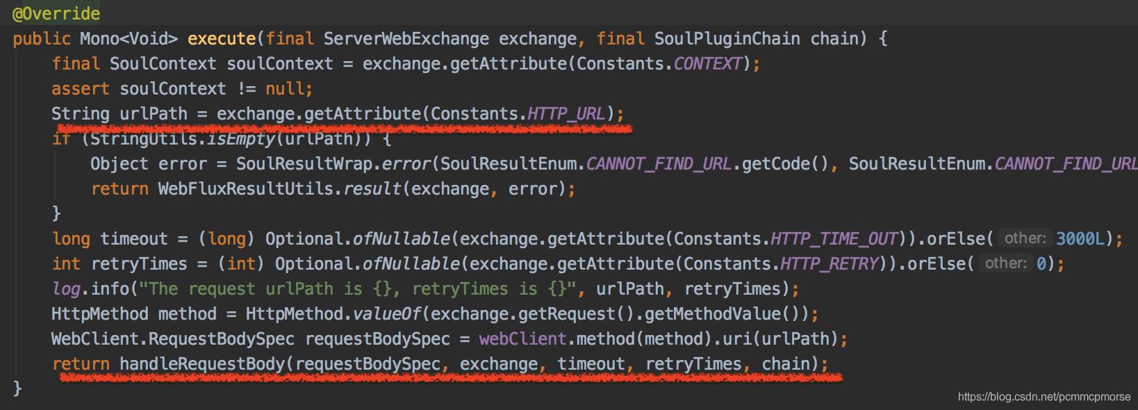 WebClientPlugin的execute方法