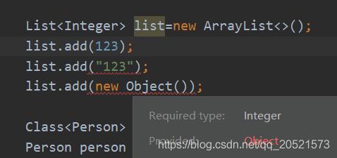 IDE提示类型错误