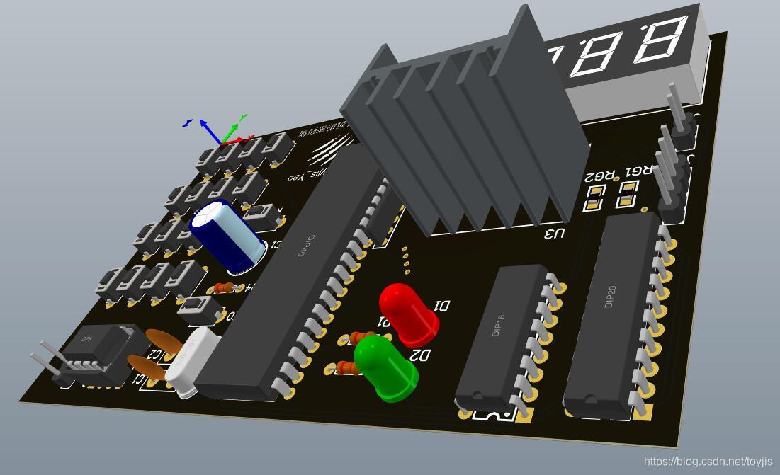 A版PCB侧视图