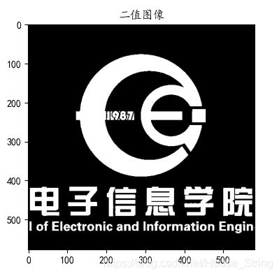 图1.二值图像示例