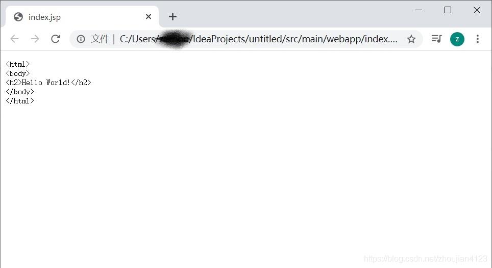 从idea启动tomcat无法进入测试jsp,强制运行如上