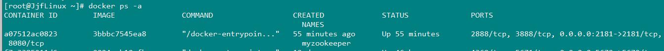 启动zookeeper镜像