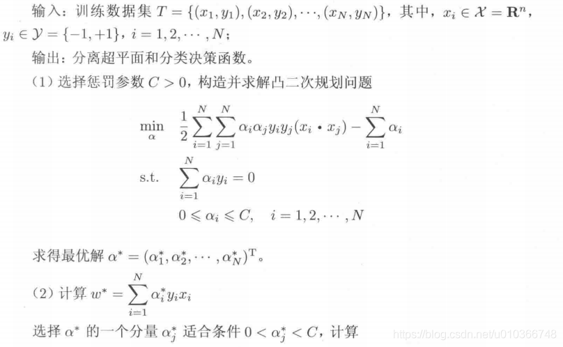 线性不可分SVM算法-对偶算法