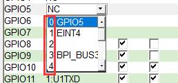 MTK功能机GPIO基本的入门操作(模式)