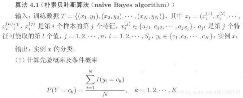 极大似然估计-朴素贝叶斯算法