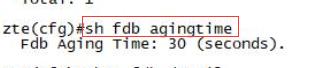 图1-4 查看老化时间参数的结果示意