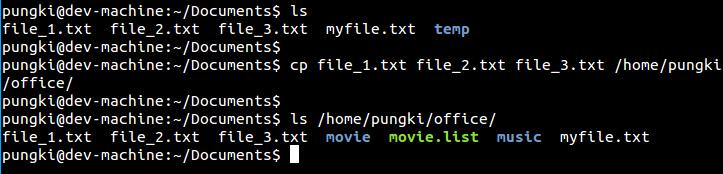 Copying multiple files