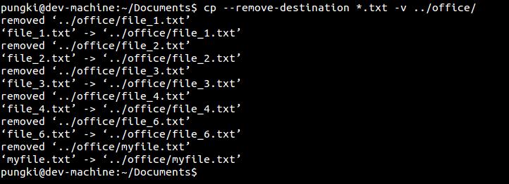 Remove destination option