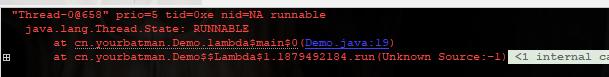 子线程当前状态为Runnable