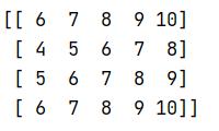 变成了4X5的数组