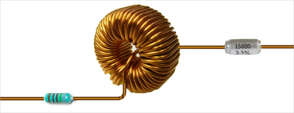 ▲ 以电感为中心的RLC串联电路