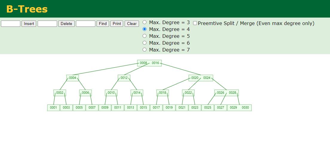 BTree数据结构