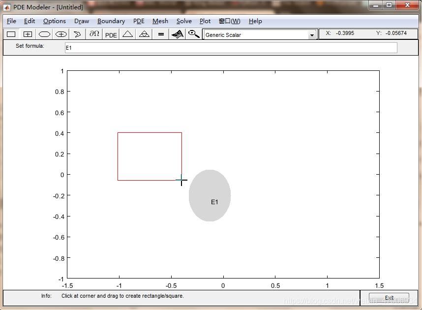 在这里,作者随意绘制了一个椭圆形区域,和一个矩形区域