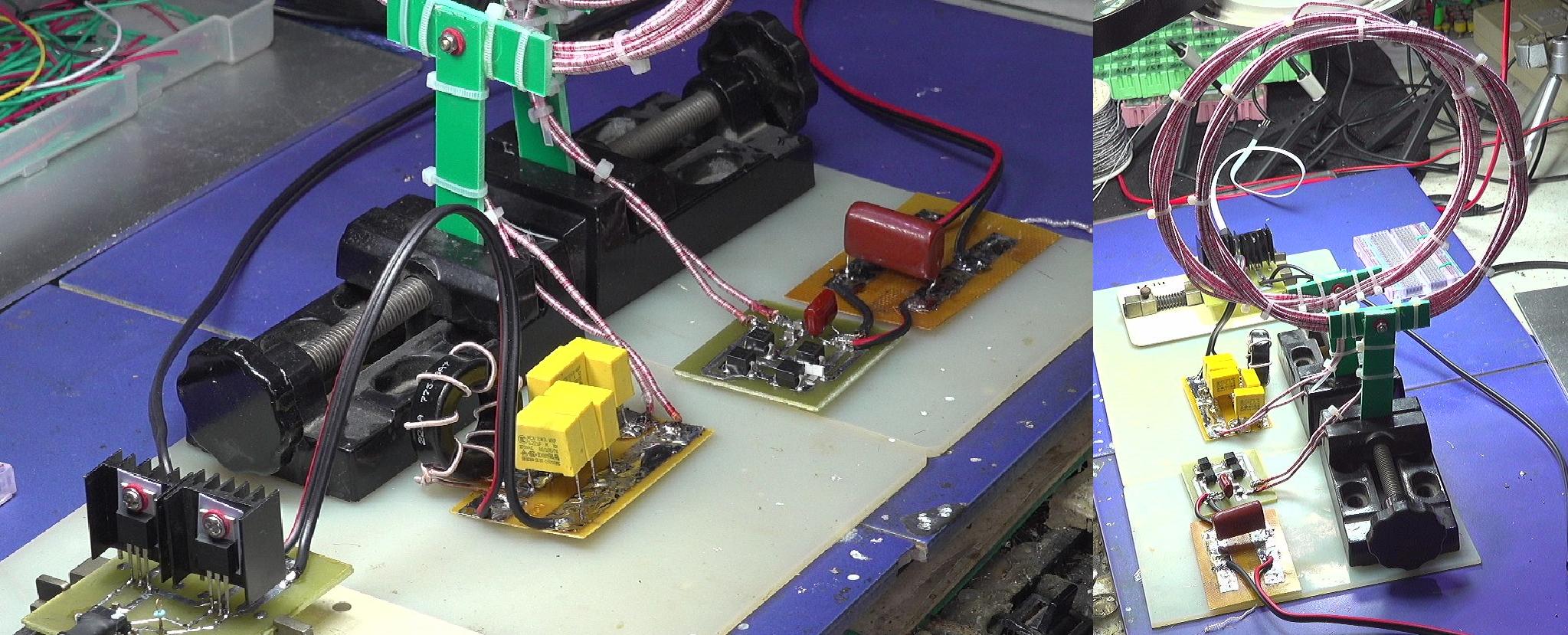 ▲ 连接在一起的耦合实验品台