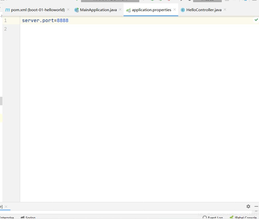 此为更改tomcat服务器的端口号