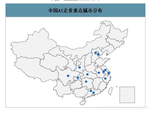中国AI企业重点城市分布