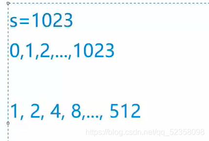 最多能使用s次,我们就求出相应的二进制数