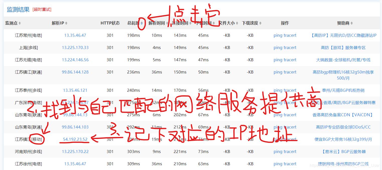 我的网络服务提供商是移动,我记下的IP是54.192.23.52