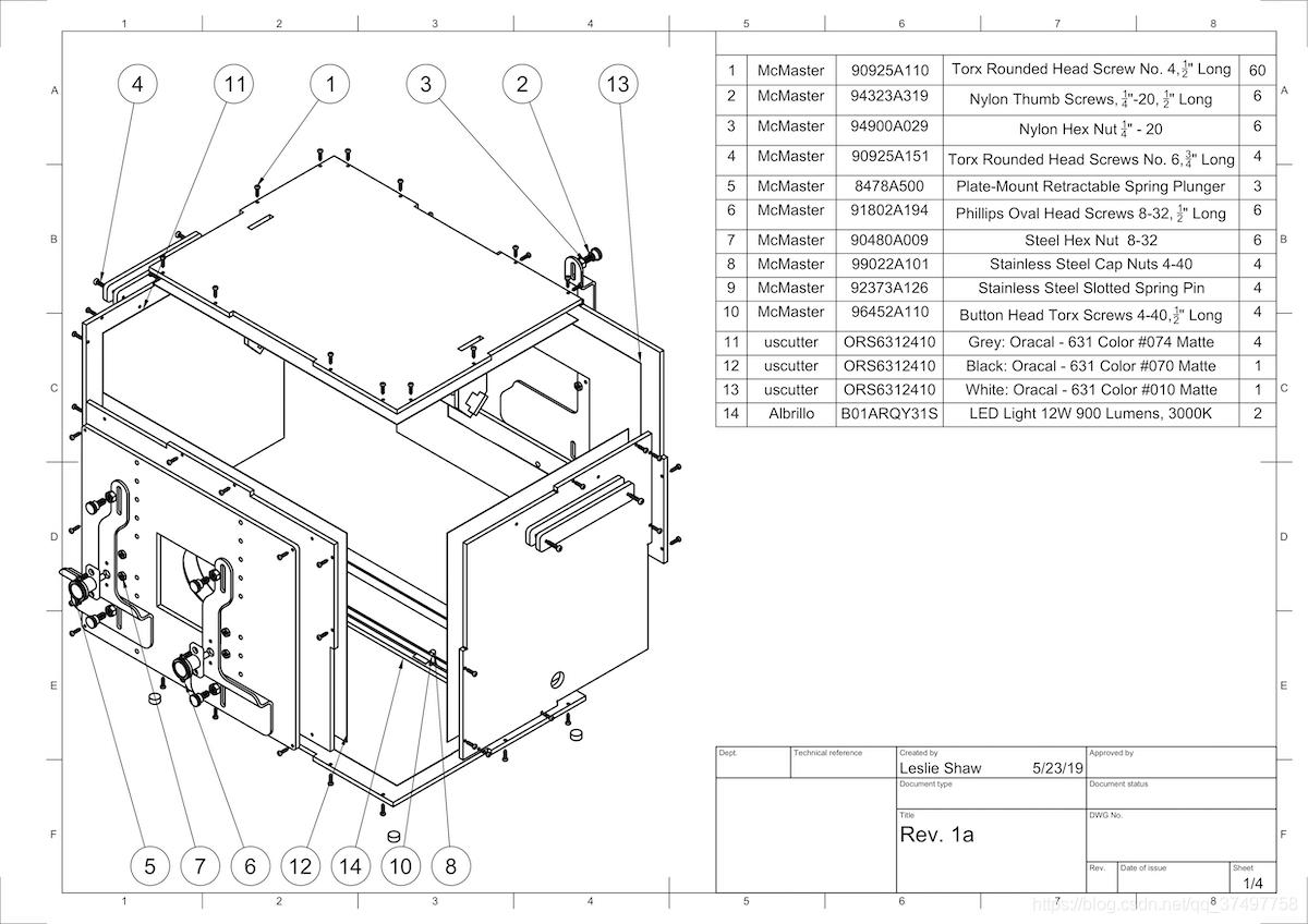 盒装 ITS 的机械图纸