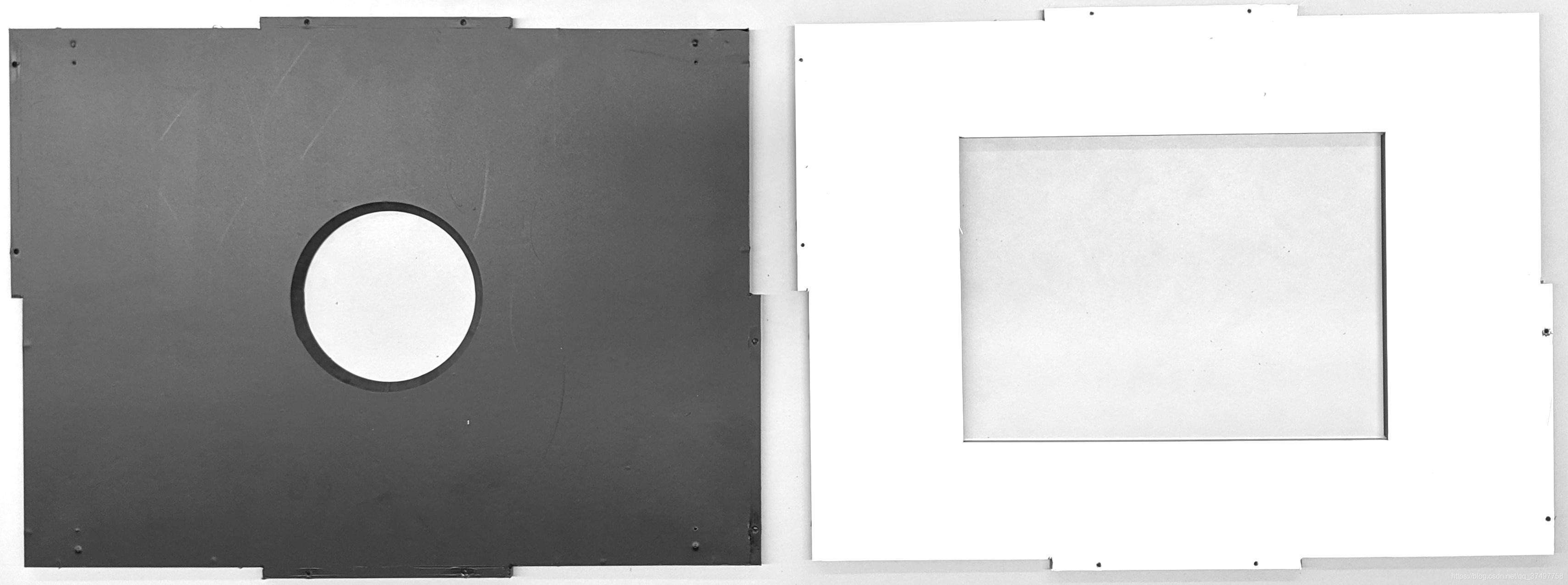 在前板和后板上贴上了乙烯基膜