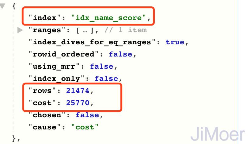 idx_name_score执行计划成本