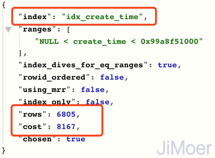 idx_create_time执行计划成本